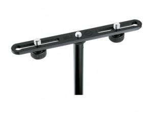 K & M 332 Microphone Mounting Bar 2 Way